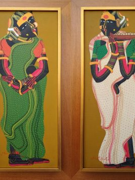 T. Vaikuntam 20 x 8 Inches each Acrylic on canvas