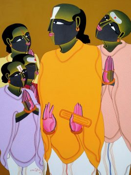 T. Vaikuntam 60 x 48 Inches Acrylic on canvas