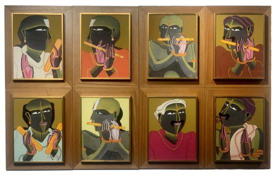 T. Vaikuntam 16 x 12 Inches (each) Acrylic on canvas